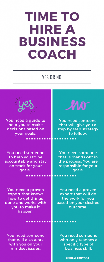 time to hire a business coach infographic shaylaboydgill