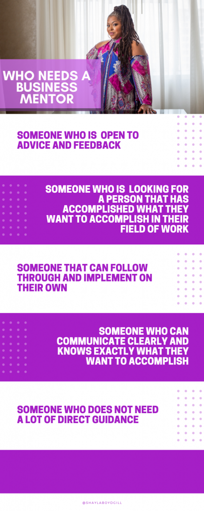 who needs a business mentor infographic shaylaboydgill